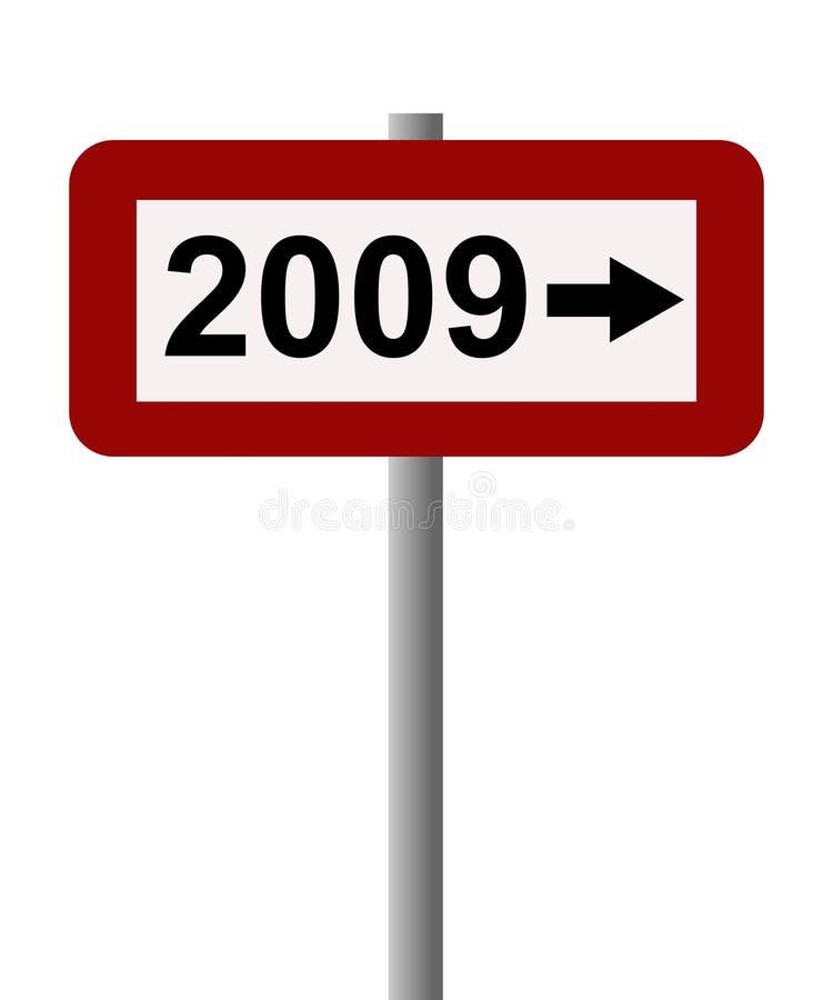 het teken van 2009 vector illustratie