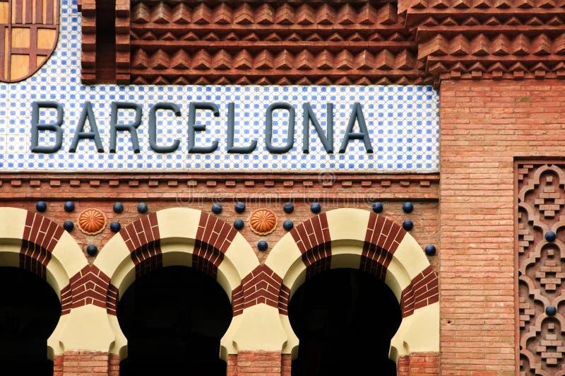 Het teken van Barcelona stock fotografie