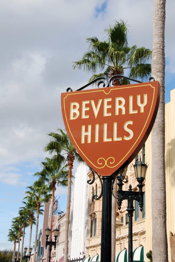 Het teken van Beverly Hills stock foto's