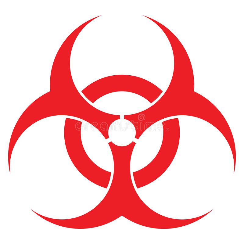 Het teken van Biohazard royalty-vrije illustratie