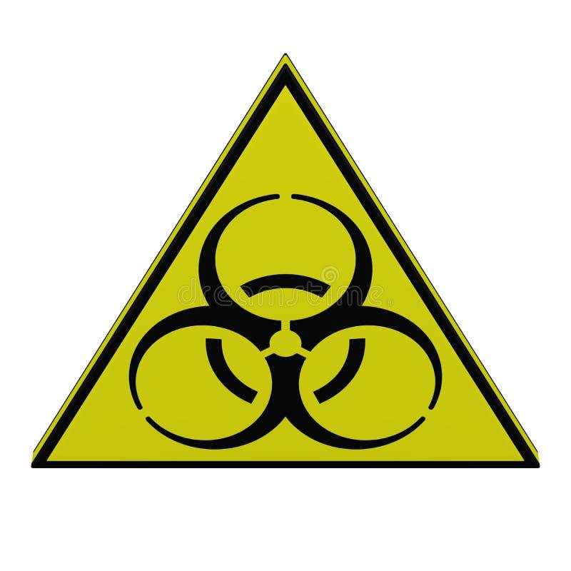 Het teken van Biohazard het 3d teruggeven royalty-vrije illustratie