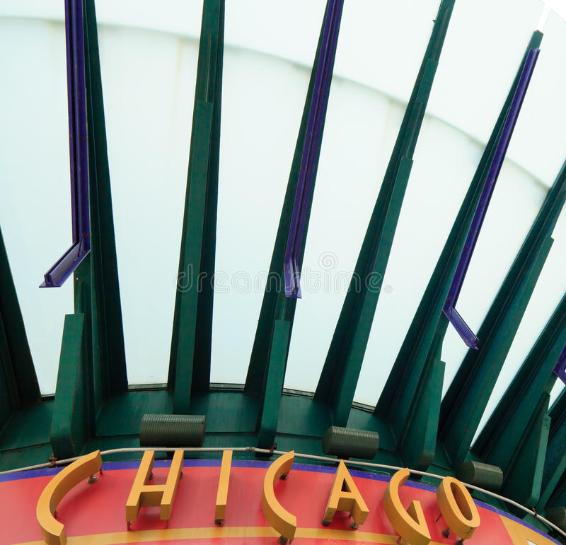 Het teken van Chicago stock foto
