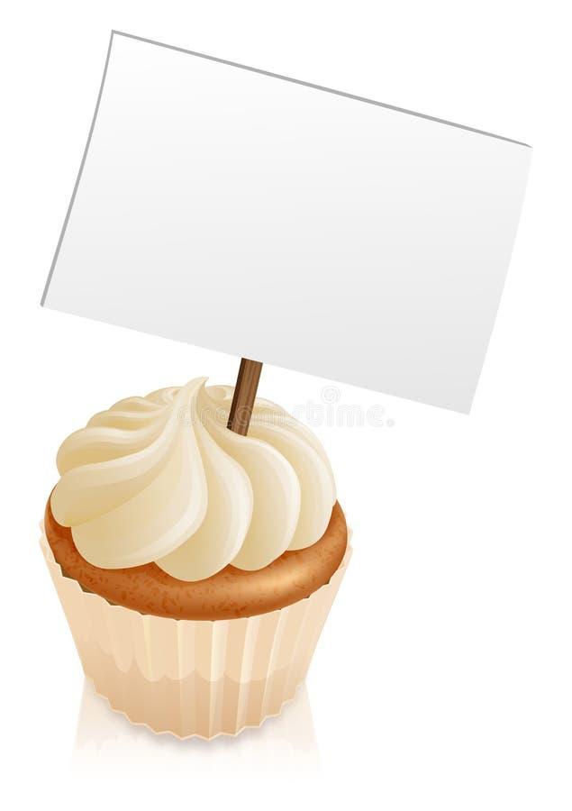 Het teken van Cupcake stock illustratie