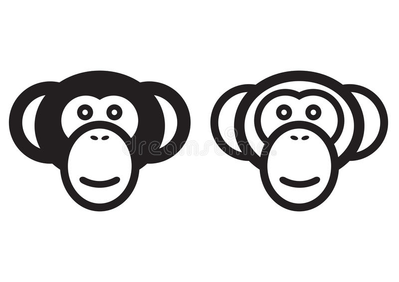 Het teken van de aap royalty-vrije illustratie