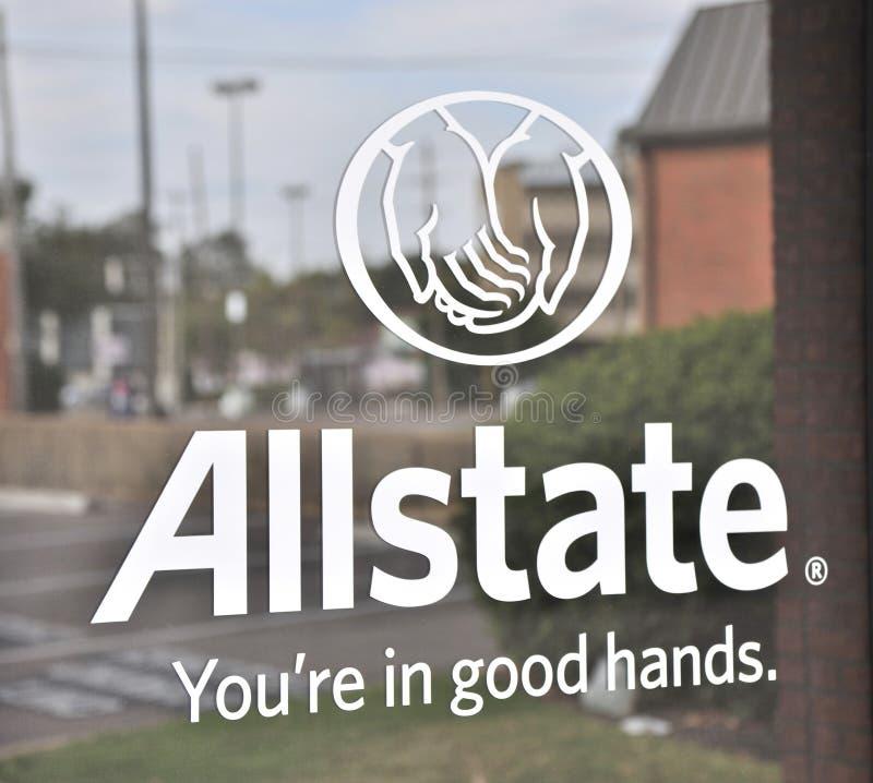 Het Teken van de Allstateverzekering royalty-vrije stock foto's