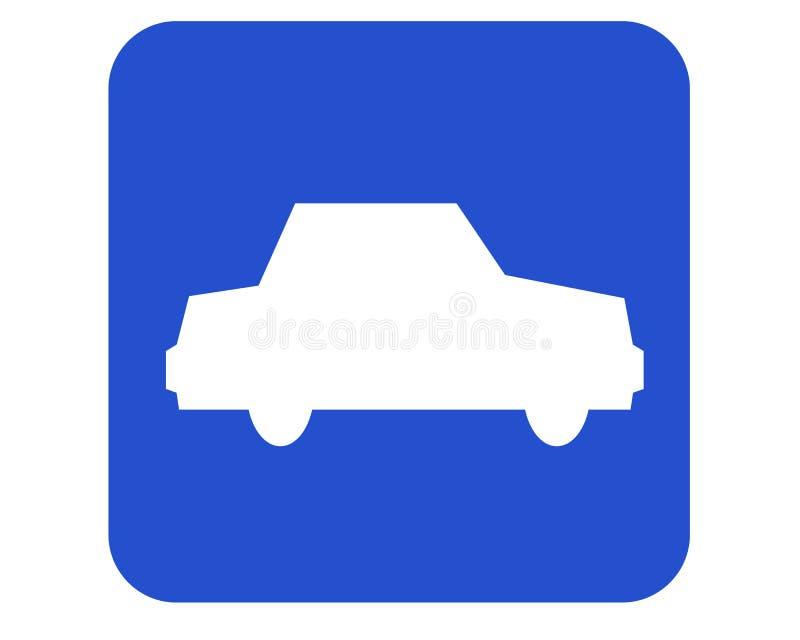 Het teken van de auto stock illustratie