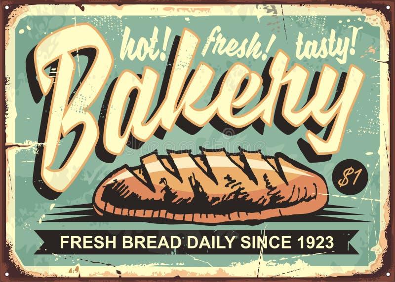 Het teken van de bakkerijwinkel royalty-vrije illustratie