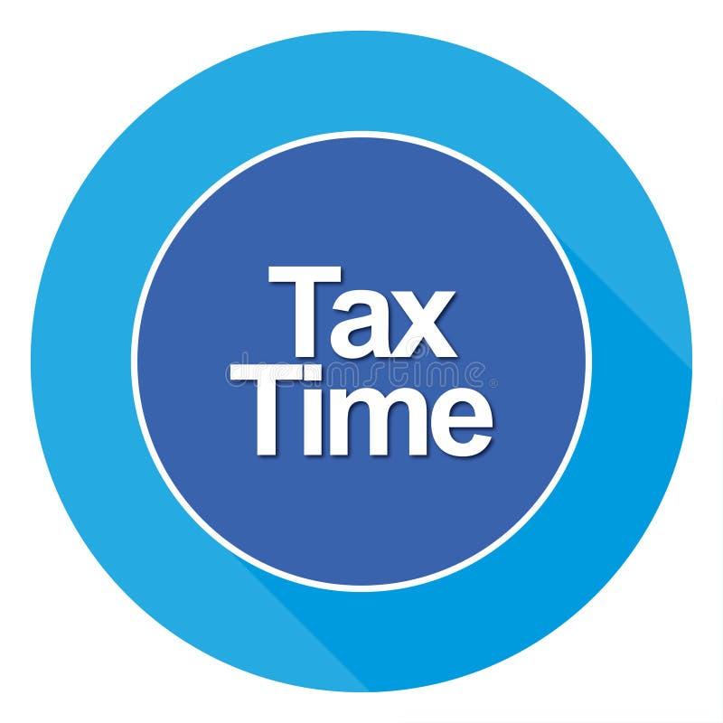 Het teken van de belastingstijd royalty-vrije stock afbeeldingen