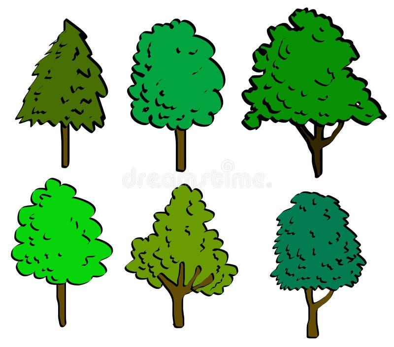 Het teken van de boom royalty-vrije illustratie