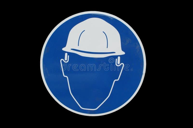 Het teken van de bouwwerfveiligheid stock afbeelding