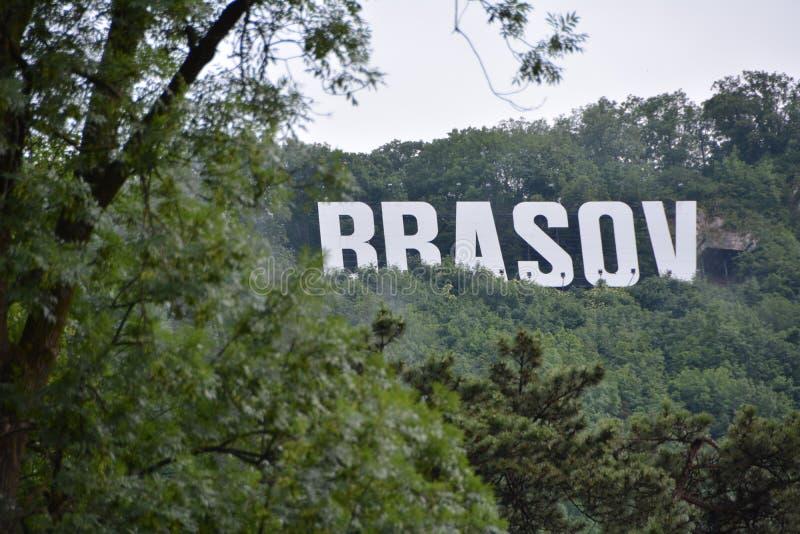 Het teken van de Brasovstad stock foto