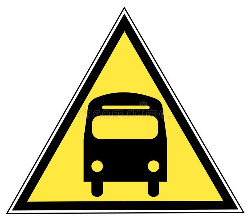 Het teken van de bus stock illustratie