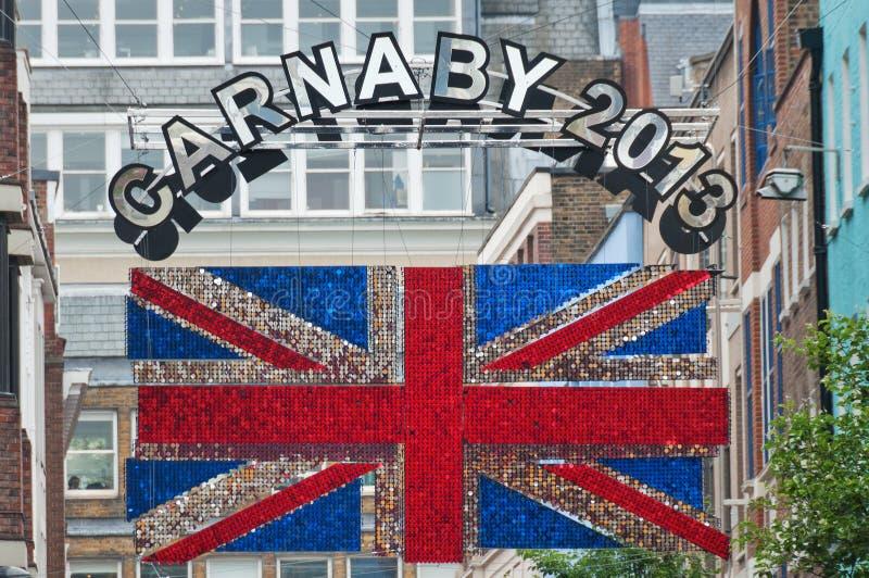 Het teken van de Carnabystraat royalty-vrije stock afbeelding