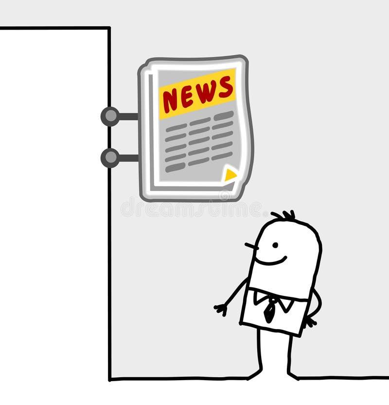 Het teken van de consument & winkel - kranten stock illustratie