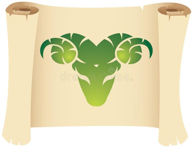Het teken van de de dierenriemster van de Ram vector illustratie