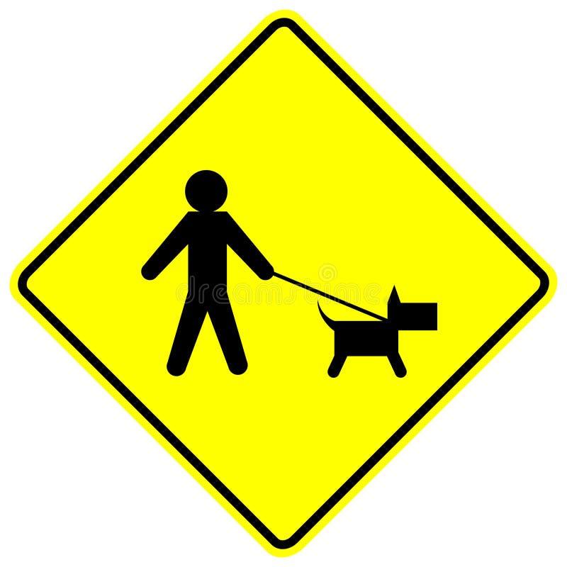 Het teken van de de gangstreek van de hond royalty-vrije illustratie