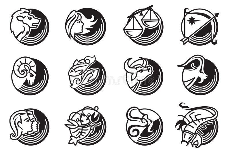 Het teken van de dierenriem royalty-vrije illustratie