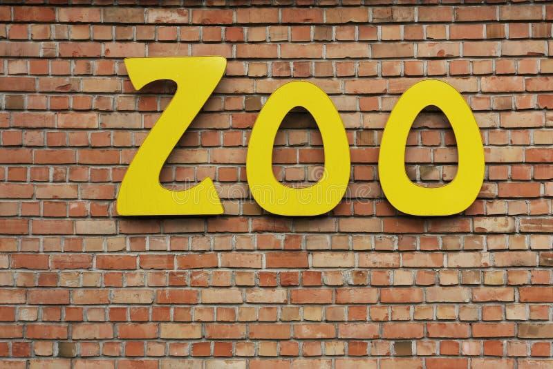 Het teken van de dierentuin stock afbeelding