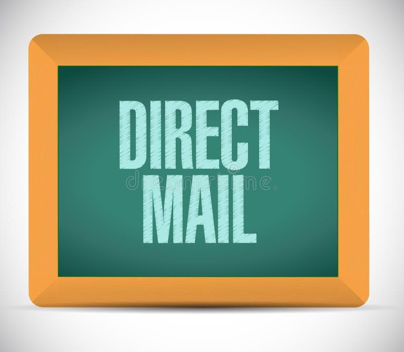 het teken van de direct mailraad Illustratie vector illustratie