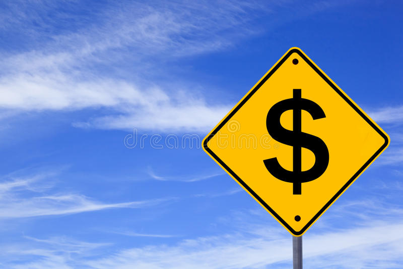 Het Teken van de dollar stock foto's