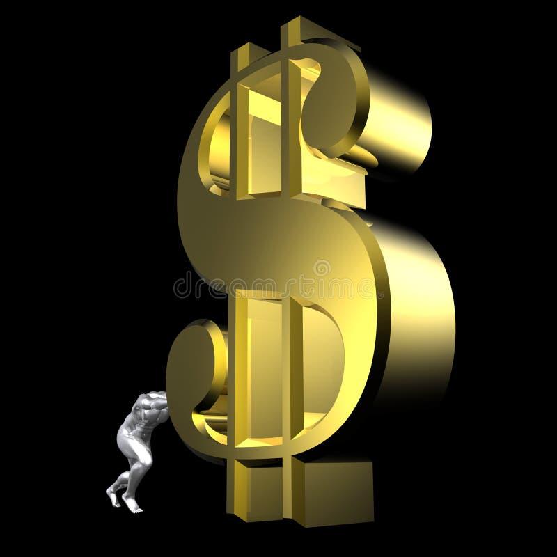 Het teken van de dollar stock illustratie