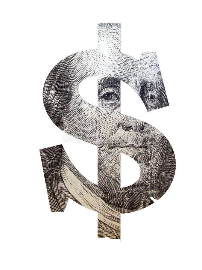 Het teken van de dollar royalty-vrije stock foto