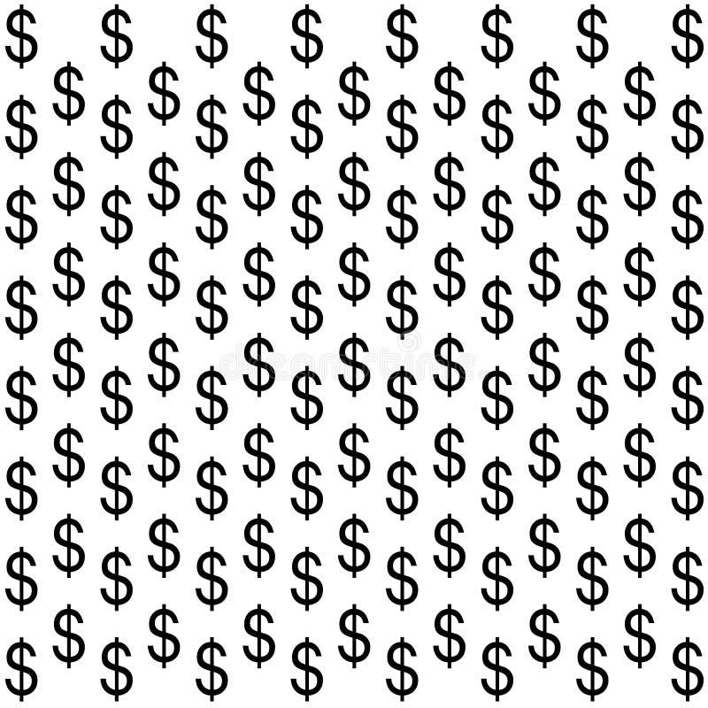 Het teken van de dollar op witte achtergrond royalty-vrije stock foto's