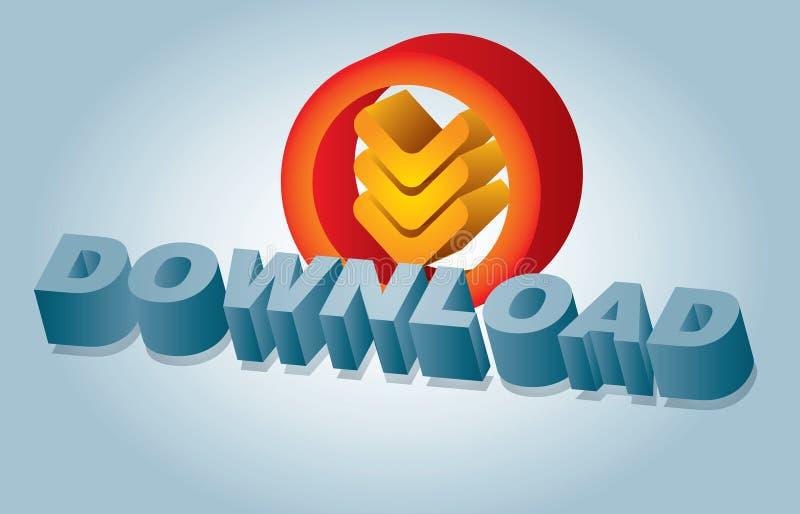 Het teken van de download stock illustratie
