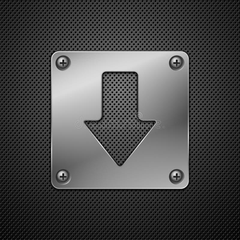 Het teken van de download. royalty-vrije illustratie