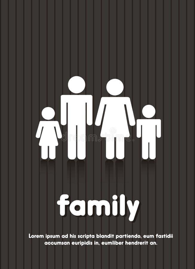 Het teken van de familie royalty-vrije illustratie