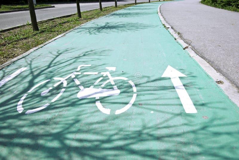 Het teken van de fiets stock afbeeldingen