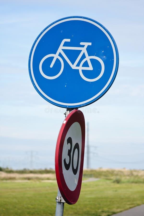 Het teken van de fiets stock foto