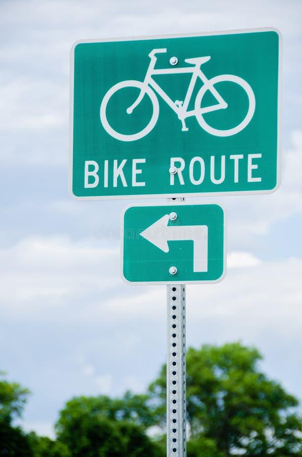 Het teken van de fietsroute stock foto's