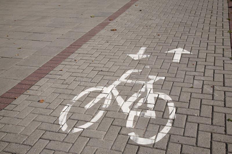 Het teken van de fietssteeg stock afbeelding