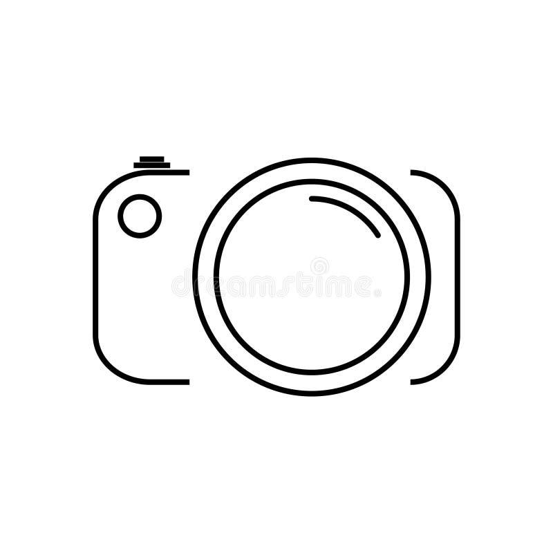 Het teken van de fotocamera - de dunne foto van de lijnvoorraad royalty-vrije illustratie
