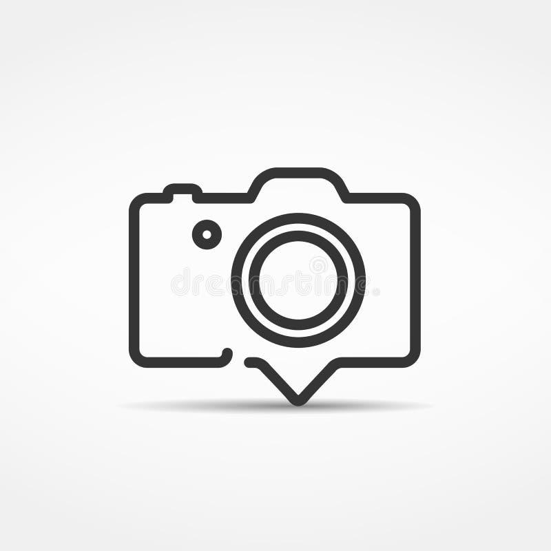 Het teken van de fotocamera op een witte achtergrond royalty-vrije illustratie