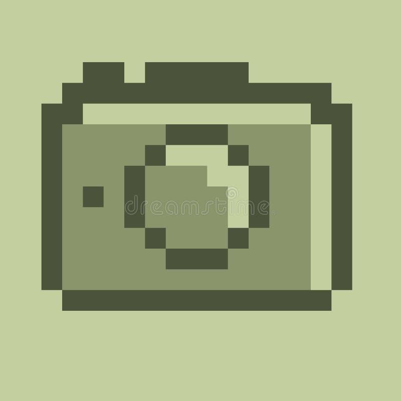 Het teken van de fotocamera op een witte achtergrond stock afbeeldingen