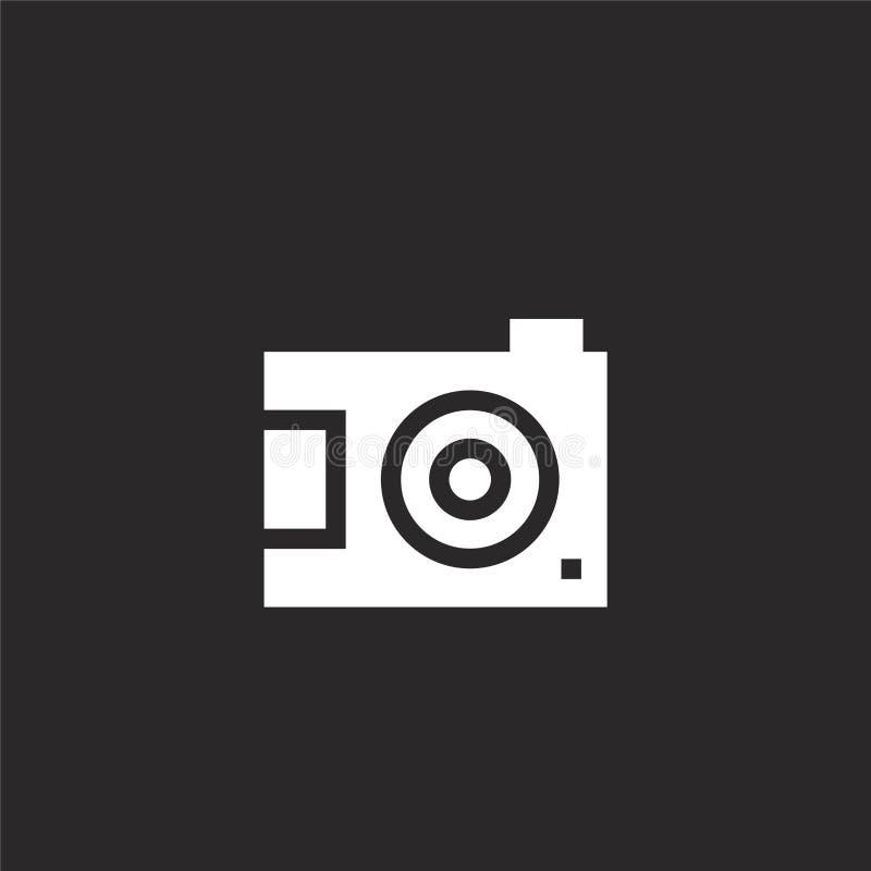 Het teken van de fotocamera op een witte achtergrond Gevuld camerapictogram voor websiteontwerp en mobiel, app ontwikkeling camer vector illustratie