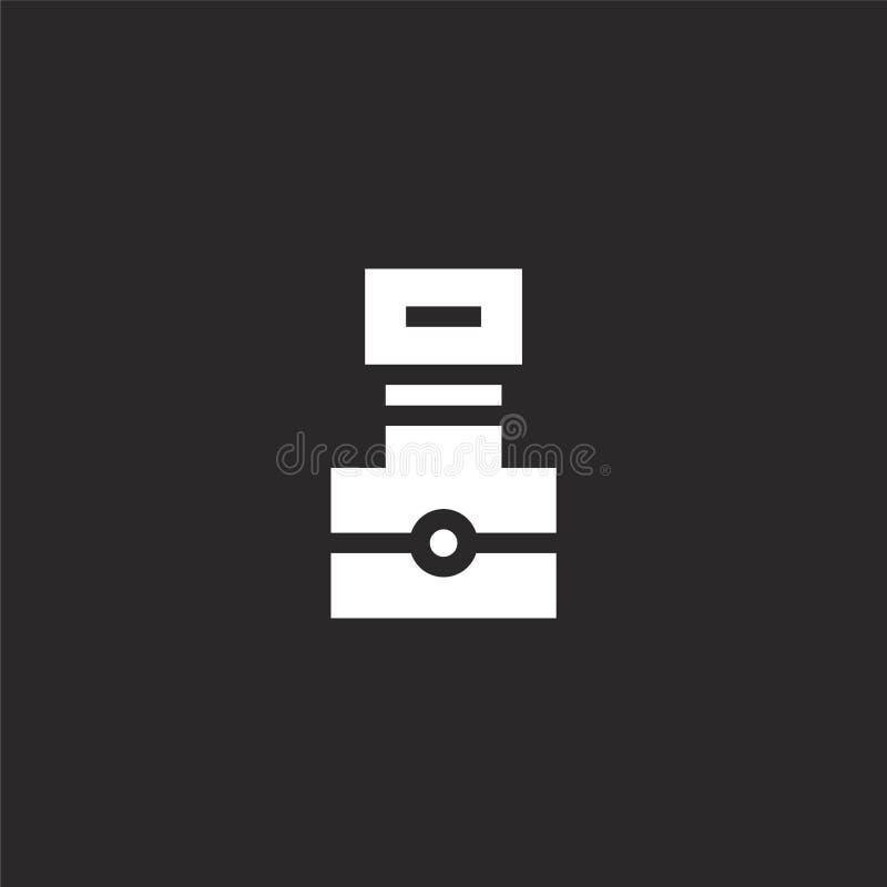 Het teken van de fotocamera op een witte achtergrond Gevuld camerapictogram voor websiteontwerp en mobiel, app ontwikkeling camer royalty-vrije illustratie