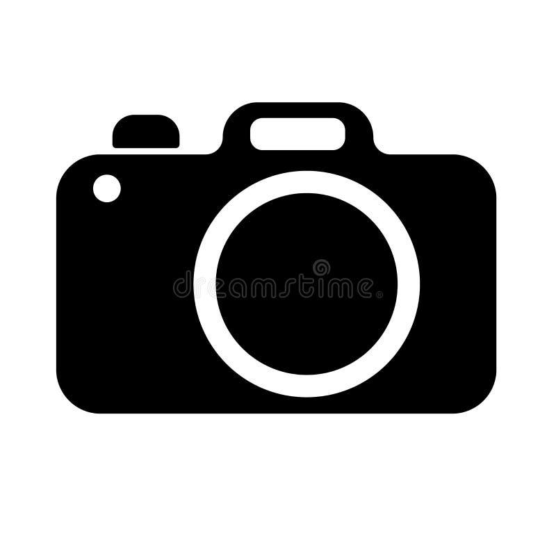 Het teken van de fotocamera op een witte achtergrond de vector isoleerde vlakke stijl royalty-vrije stock foto's