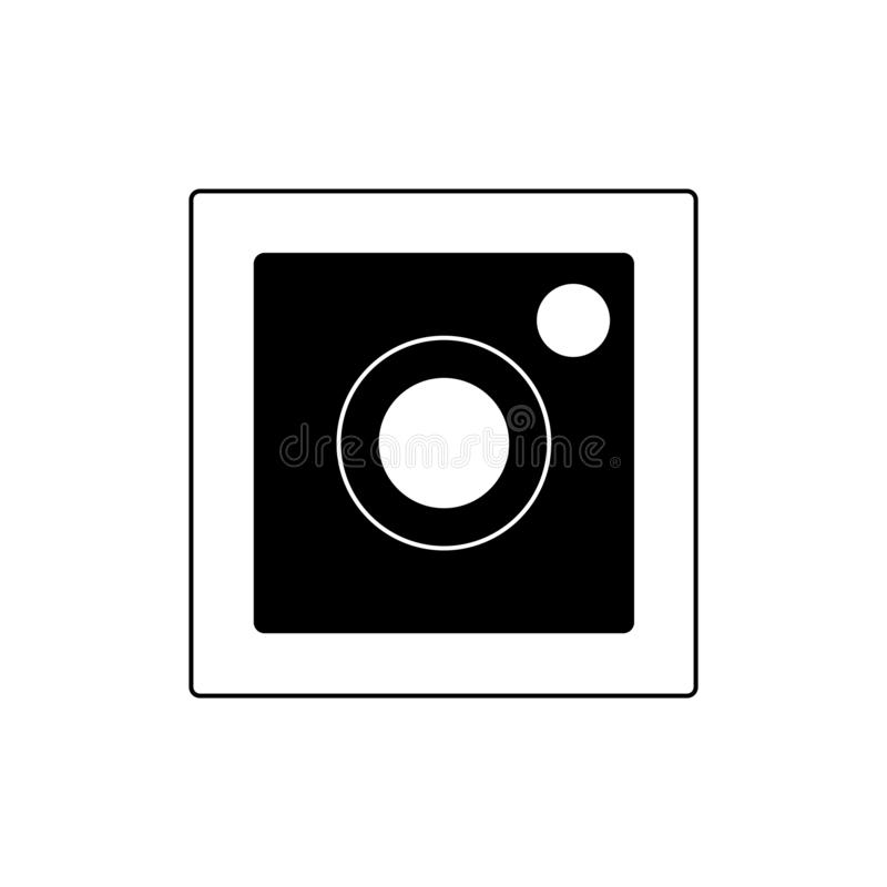 Het teken van de fotocamera op een witte achtergrond voorraadpictogrammen royalty-vrije illustratie