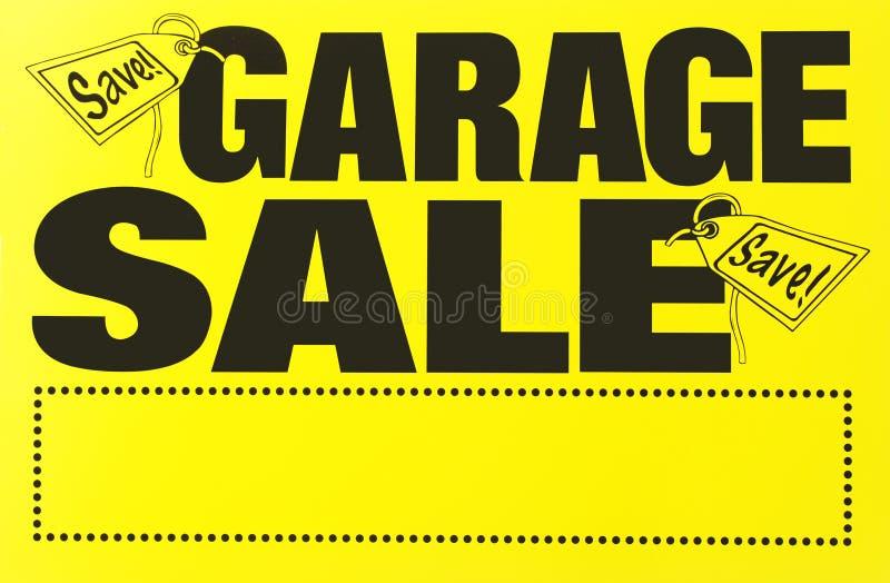 Het teken van de garage sale stock afbeelding