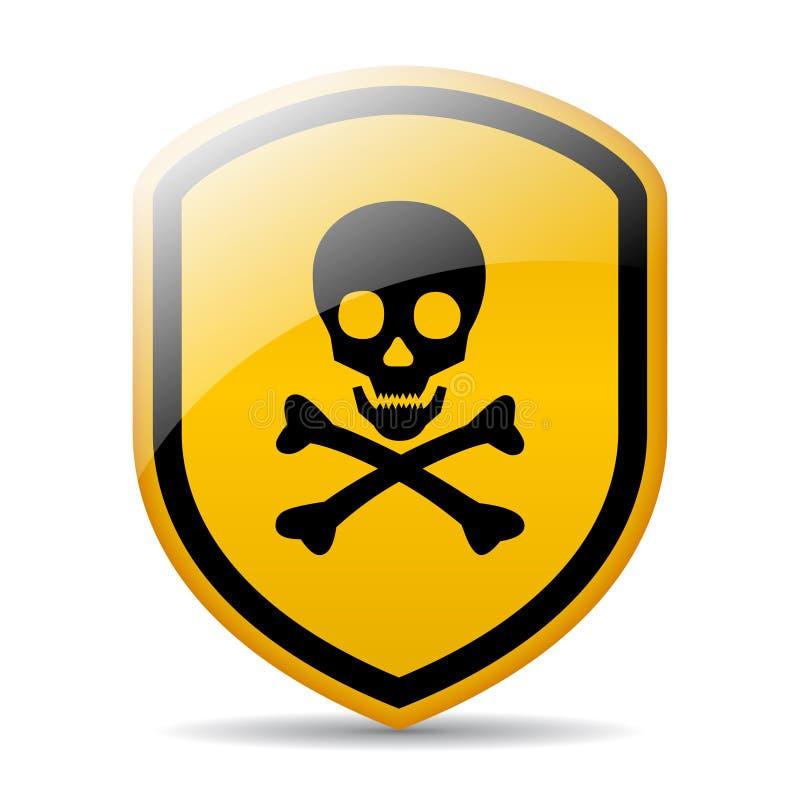 Het teken van de gevaarsschedel vector illustratie