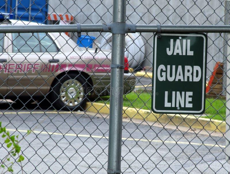 Het teken van de gevangenis stock afbeeldingen