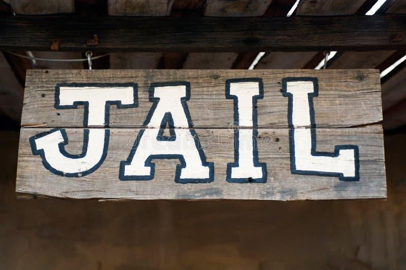 Het teken van de gevangenis stock afbeelding
