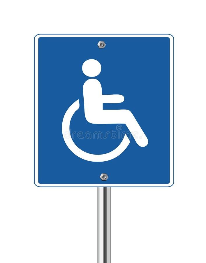 Het Teken van de Handicap van de rolstoel royalty-vrije illustratie