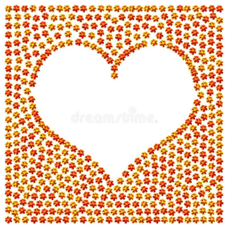 Het teken van de het hartliefde van de bloem royalty-vrije stock afbeelding