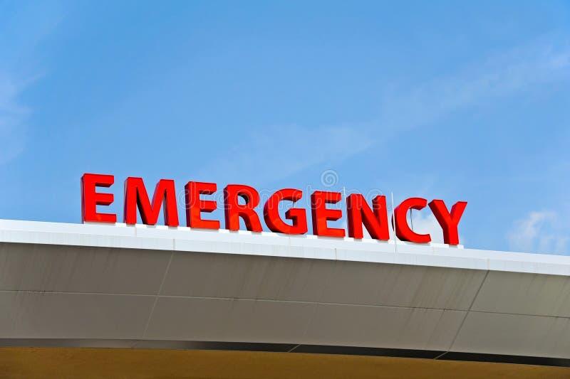 Het Teken van de het ziekenhuisnoodsituatie royalty-vrije stock afbeelding
