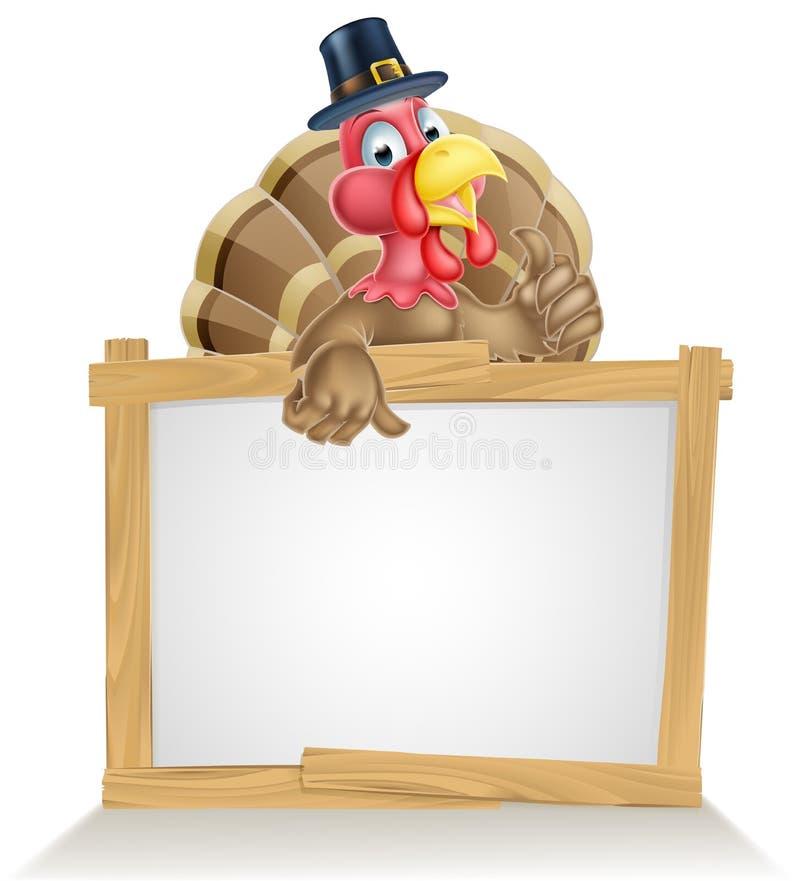 Het Teken van de Hoedenturkije van de dankzeggingspelgrim vector illustratie