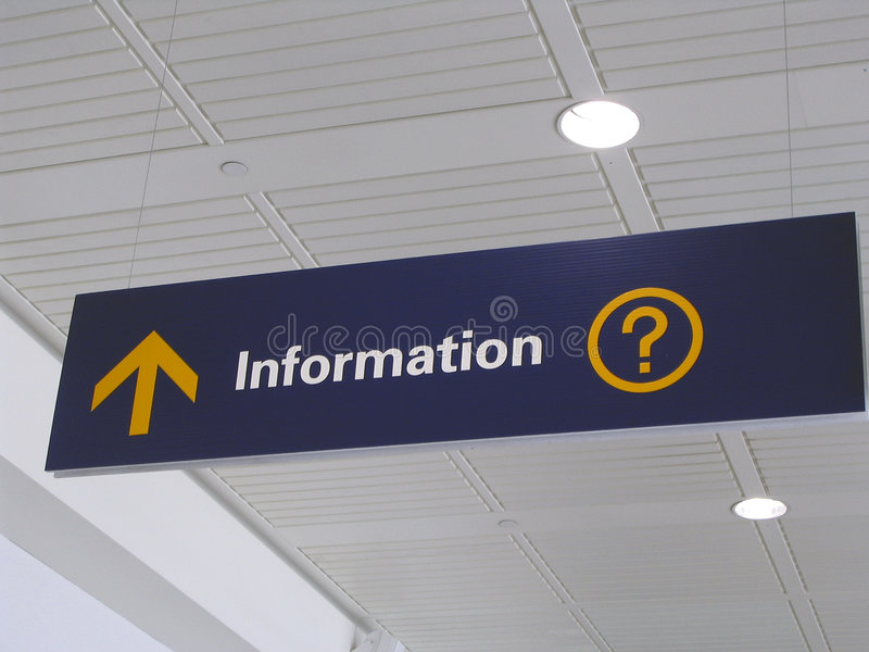 Het teken van de informatie stock foto